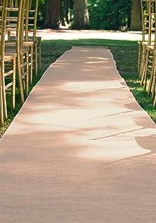 Burlap Aisle Runner Beach Garden Wedding, 36-Inch x 100ft (Natural)