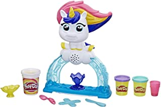 Play-Doh Tootie The Unicorn Ice Cream Set with 3 Non-Toxic Colors Featuring Color Swirl Compound