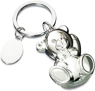 Schlsselringe (beleuchtet and neuheiten) Silber poliert Bär Schlüsselanhänger