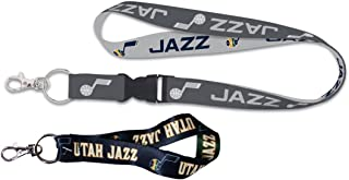 Wincraft Bundle - 2 Items: NBA Utah Jazz 1 Premium Lanyard Charcoal Edition and 1 Key Strap Key Chain