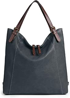 Convertible Backpack Purse, Brenice Women Multifunction Leather Vintage Tote