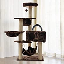 Pet supplies Deluxe Cat Entertainment Tower , Cat Climbing Frame Scratching Post Tree Condominium, Scratching Post Activity Centre Pet Toy With Hanging Ball Toys,Pets Play House Home Decorative Furnit