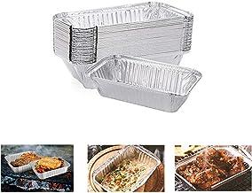 lkjf 30PCS Household Toast Mould Roasting Cake Mold Loaf Pan Aluminum Foil Box Baking Bread Pan BBQ Tray