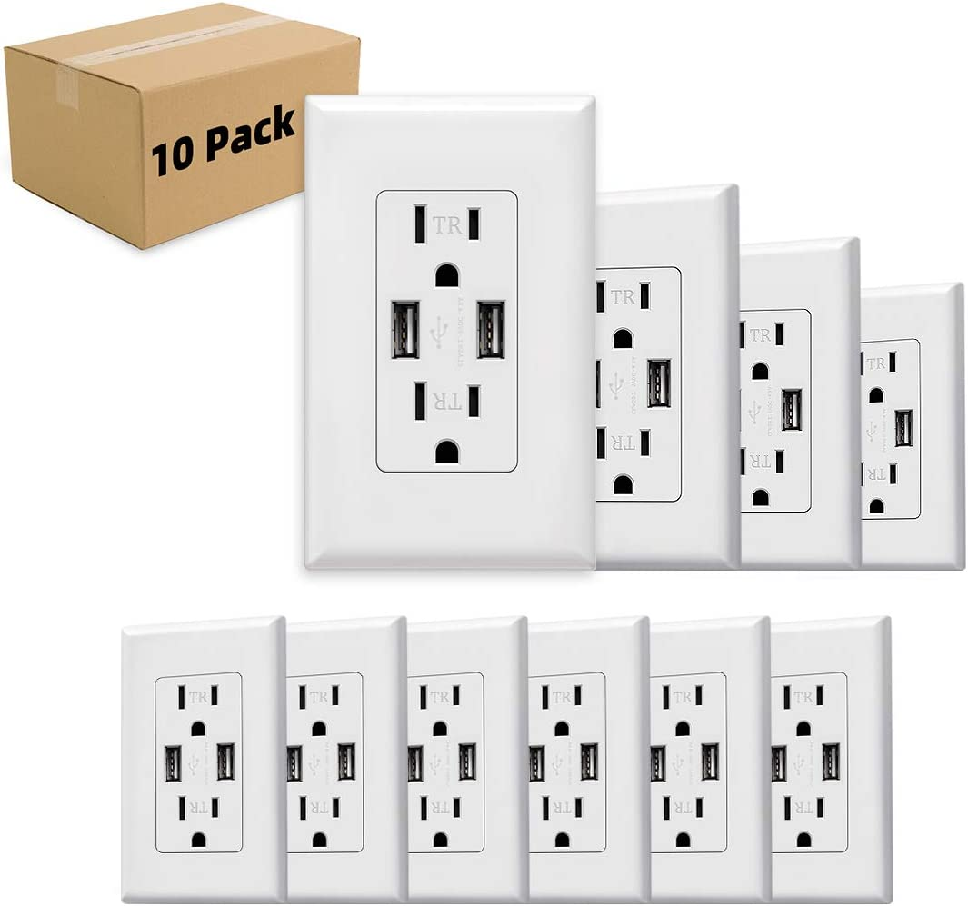 USB Outlet 3.1A High Charger Wall Fort Worth Mall Speed Electrical Direct sale of manufacturer