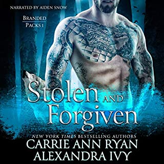 Stolen and Forgiven     Branded Packs Series              By:                                                                                                                                 Alexandra Ivy,                                                                                        Carrie Ann Ryan                               Narrated by:                                                                                                                                 Aiden Snow                      Length: 7 hrs and 48 mins     312 ratings     Overall 4.2