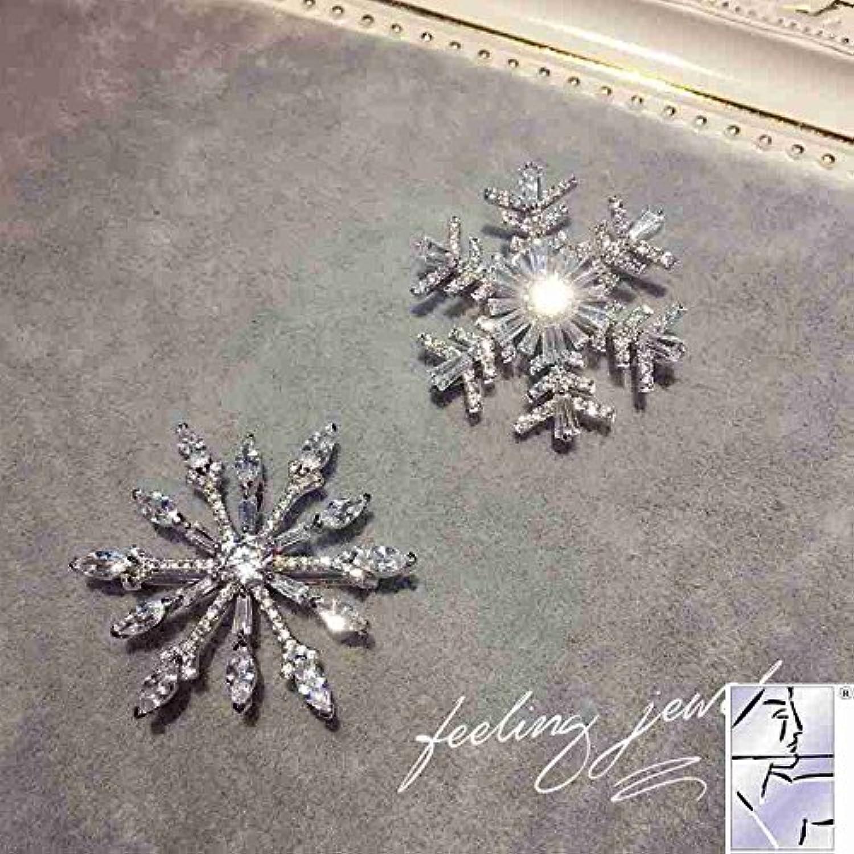 Fashion Wild Temperament Snowflake Zircon Brooch pin Badge Corsage Friend Birthday Gift Girlfriend Jewelry