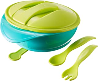 TOMMEE TIPPEE Suction Bowl with Travel Lid and Cutlery,