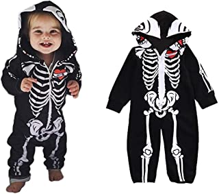 traderplus Baby Infant Boy Girl Halloween Romper Skeleton Costume Outfits Clothes