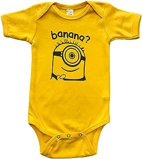 PandoraTees Infant Short Sleeve Onesie -Minion Inspired - Banana?