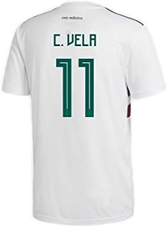 adidas C. Vela #11 Mexico Away Men's Soccer Jersey World Cup Russia 2018