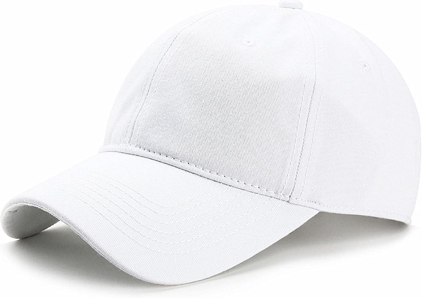 WSMYG Sombrero De Béisbol para Hombre Tallas Grandes Gorras De Talla Grande para Mujer Sombreros para El Sol con Capota Blanda para Mujer Tamaño Estándar (56-60 Cm) Blanco