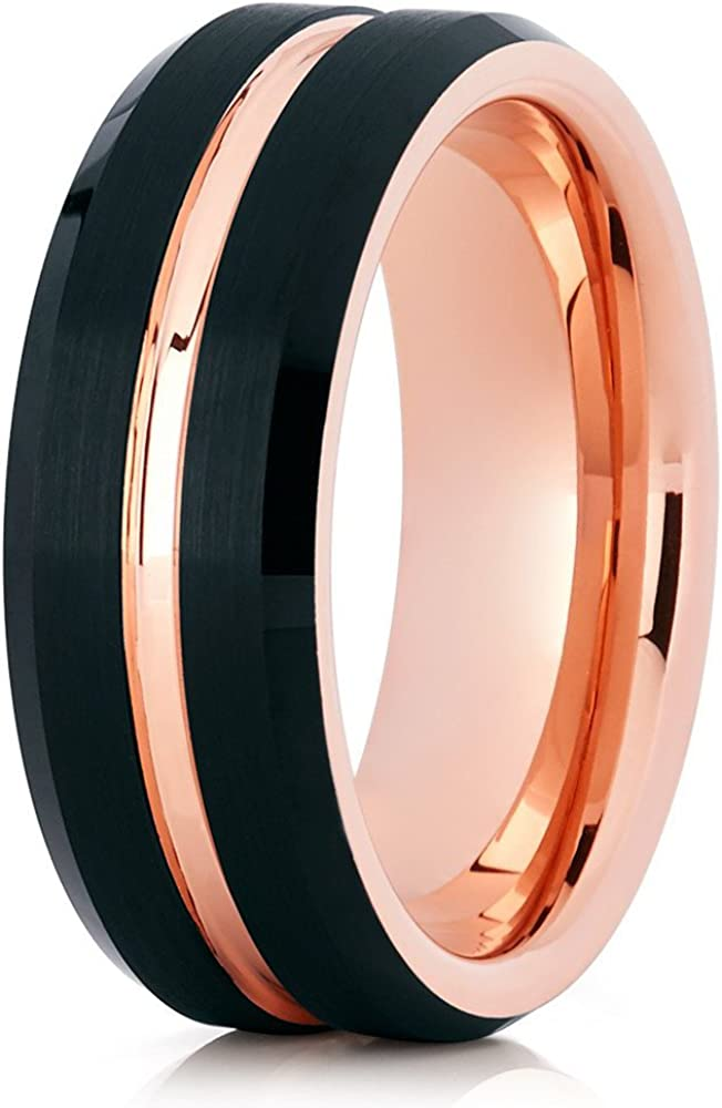 Selling Bargain sale Silly Kings Rose Gold R Wedding Tungsten Ring