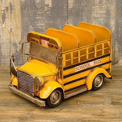 ブリキ製 ヴィンテージ アメリカン スクールバス CDホルダー