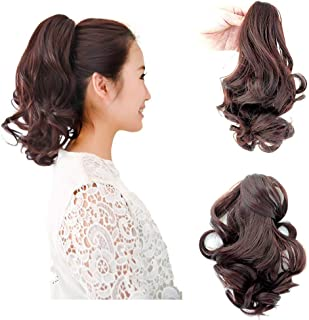 Beauty Angelbella Curly Ponytail Extension and Hairpiece Curly Nature Looking Heat-Resisting Different Color (2-33#)