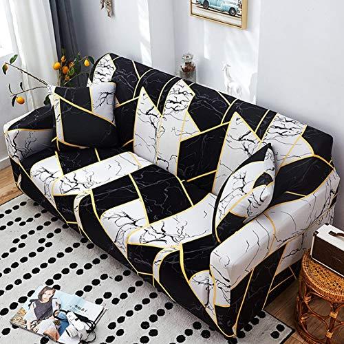 NCBH Fundas de sofá de 1/2/3/4 plazas, todo incluido, tela antideslizante, para cuatro estaciones, cubierta completa, protector de muebles, G, tres