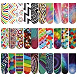 MWOOT 30 Pieces Optical Magnetic Bookmark,Assorted Magnet Book Markers Set,Colorful Magnetic Page Clips Markers for Students Teachers School Home Office Reading Supplies,30 Styles