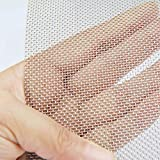 TIMESETL 304 Stainless Steel Woven Wire 20 Mesh - 12'X24' (30cmX60cm) - Rodent Mesh Insect Mesh Cabinets Wire Mesh Window Screen Mesh