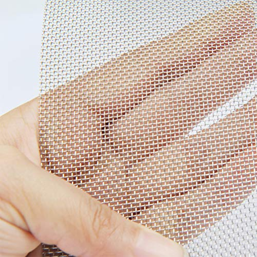 """TIMESETL 304 Stainless Steel Woven Wire 20 Mesh - 12""""X24"""" (30cmX60cm) - Rodent Mesh Insect Mesh Cabinets Wire Mesh Window Screen Mesh New York"""