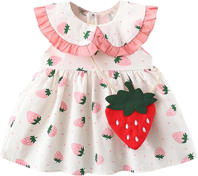 JUNLIN Baby Girls' Playwear Dresses Ruffle Sleeve Bow Mini Princess Dress and Headband