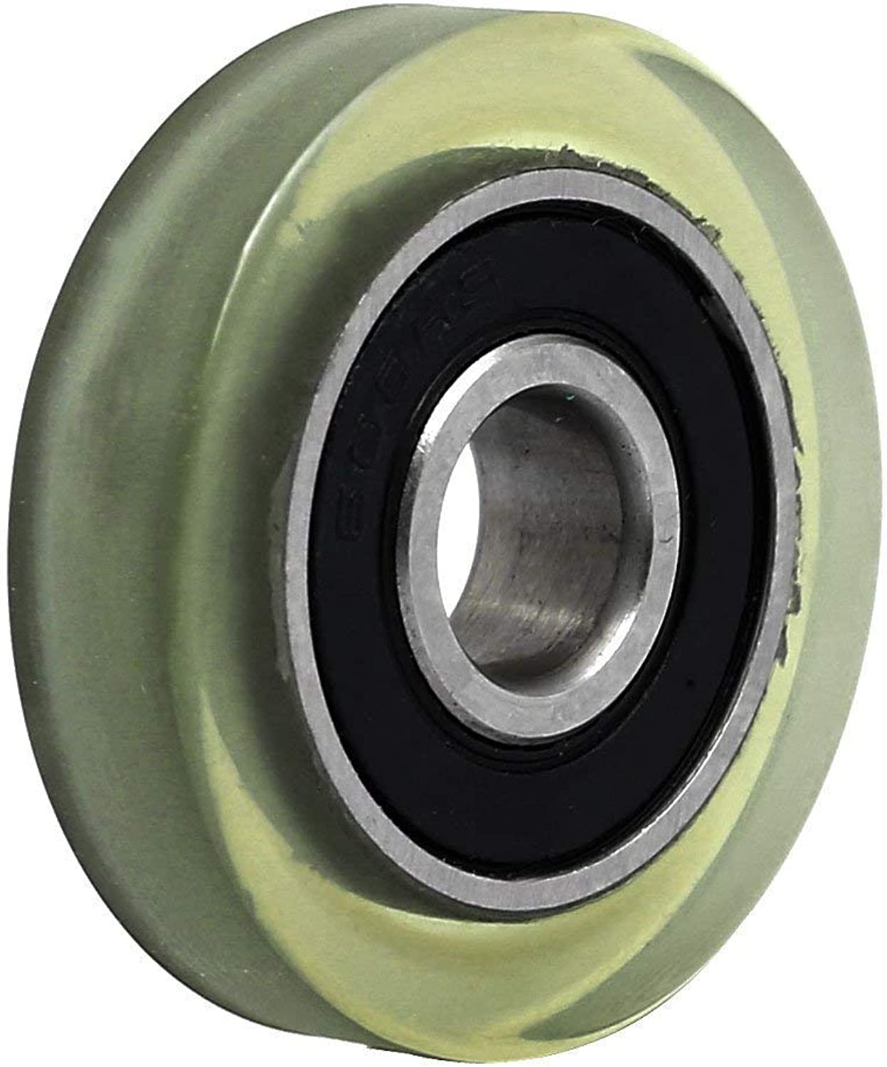 8mmx30mmx7mm PU Coated Ball Bearing Pulley Roller Wheel Clear