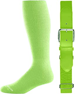 Joe's USA - Baseball Socks & Belt Combo Set Colors Available