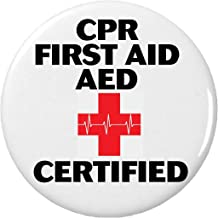 CPR First Aid AED Certified Button Pin Resuscitation Emergency Rescue Breathing