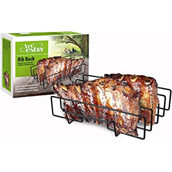 "Artestia 11.5"" or 14"" BBQ Grill Non-Stick Rib Rack, fits Spare Rib/Back Rib from costco/Whole Foods Perfectly (14-inch Width)"