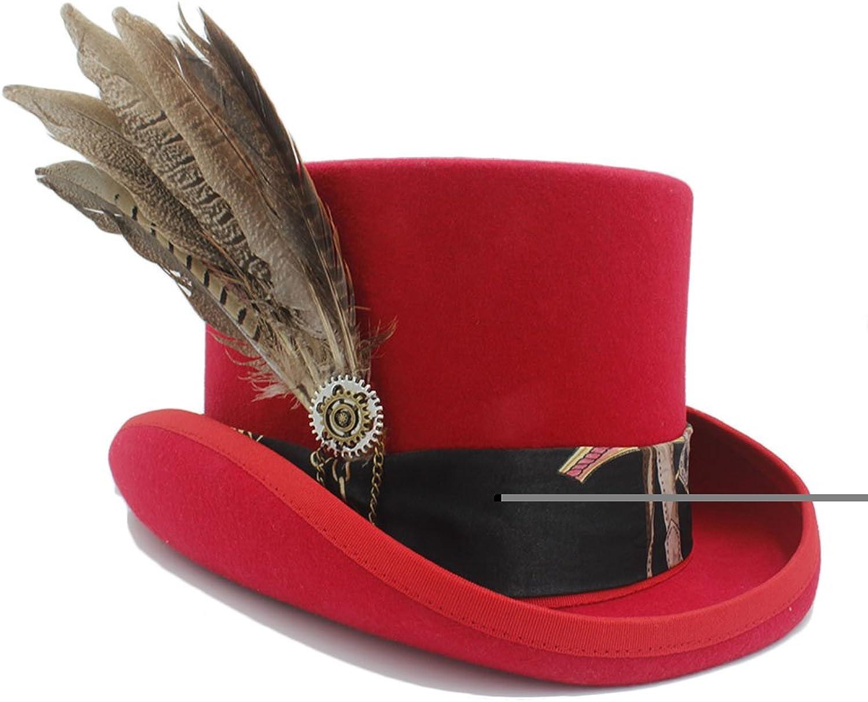 vendiendo bien en todo el mundo HHF Caps y Sombreos para para para las mujeres wen fodora steampunk sombrero con sombrero de engranaje (Color   2, Talla   57CM)  para proporcionarle una compra en línea agradable