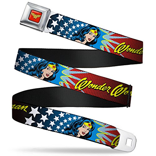 Wonder Woman Images Auto Seatbelt Buckle Strap Belt, Official Licensed by DC Comics