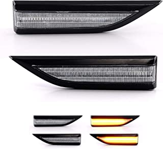 Intermitentes laterales LED intermitentes intermitentes din/ámicos con certificado E White Vision V-170142LG