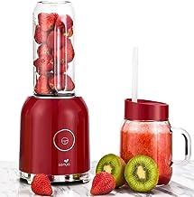 Senya blender smoothie avec 2 bouteilles portables rouge Juicy Delight 250W, 6 lames en inox, SYCP-M025, sans BPA