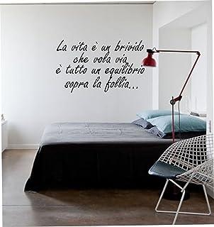 """wall stickers Adesivo murale frase""""La vita è un brivido che vola via"""" - frasi per cameretta, scritte carine,decorazione in..."""