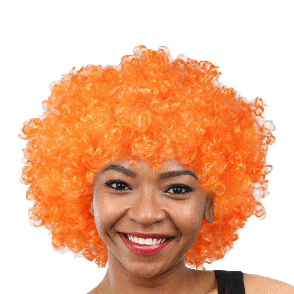 Christmas Country football Supporter Afro Wig Fancy Dress Costume