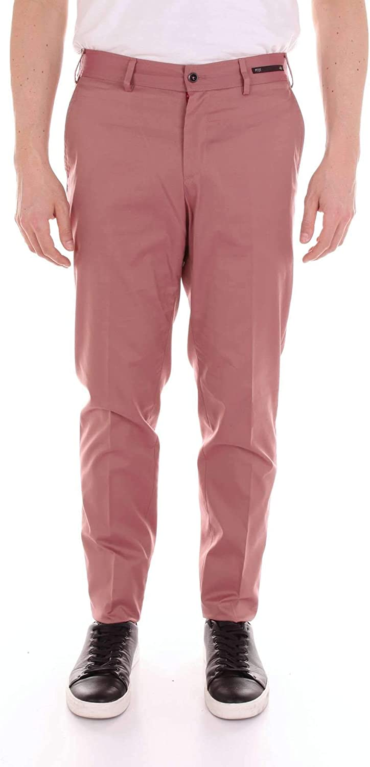 PT01 Men's MR12TSE1ZD0CL3PINK Pink Cotton Pants