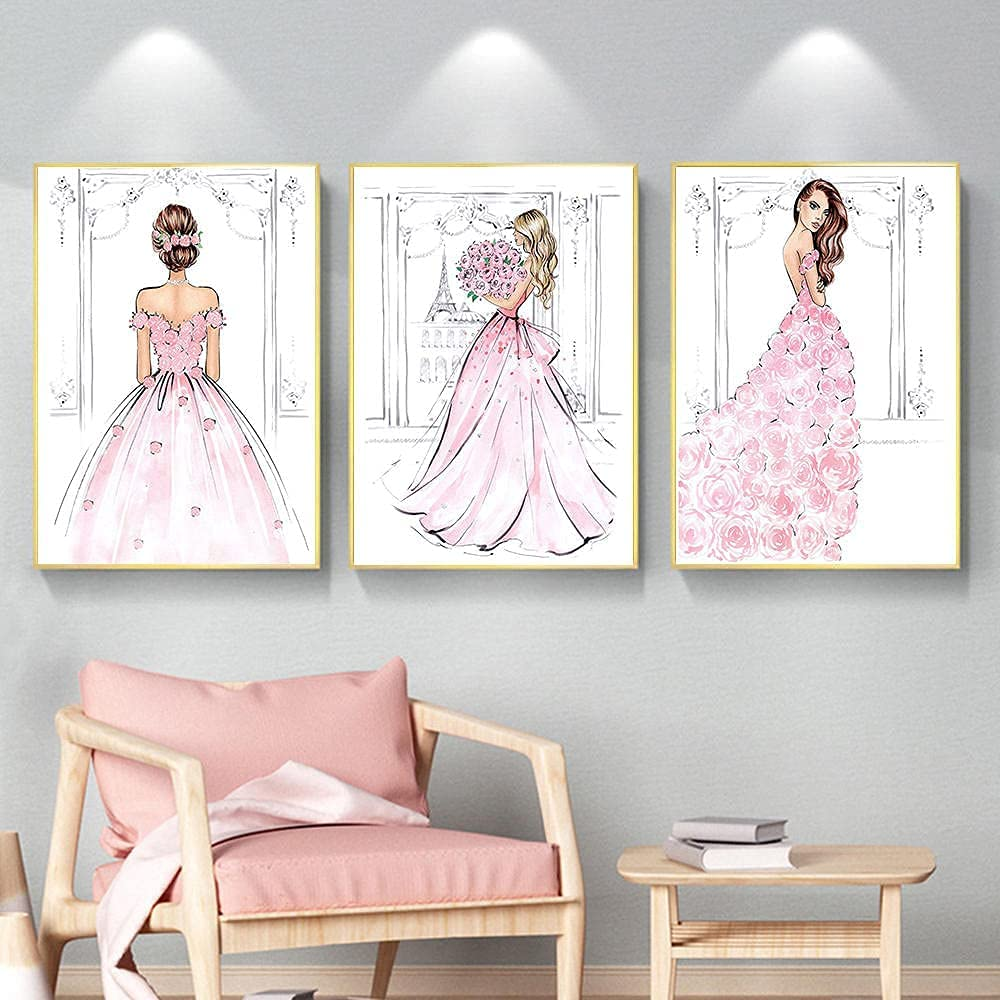 Watercolor Fashion Art Dress Poster and Our shop OFFers the best service Tower Iron C Arlington Mall Print Paris