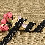 showll Cinta de encaje vintage de 10 metros, cinta de encaje de ganchillo, para costura, borde de encaje, caja de regalo, decoración (negro)