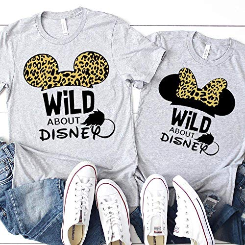 Matching Family T-Shirts Mickey Minnie Cheetah Animal Kingdom Unisex Kids Baby Adult Couples Shirts