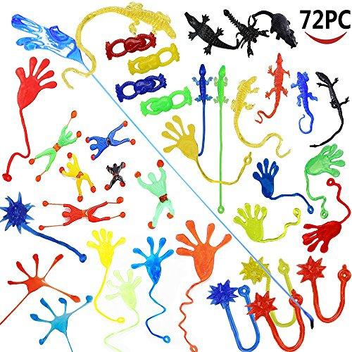 Wankko 72 piezas de vinilo elástico pegajoso juguete surtido incluyendo 12...