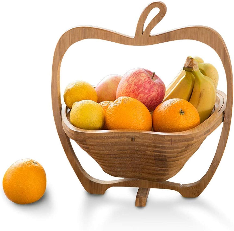 GPAN Panier de fruits en bois massif portable créatif pliable amovible panier de fruits salon plaque de fruits panier de stockage moderne simple 26.5  31 cm 10.43  12.20in Assiette de fruits
