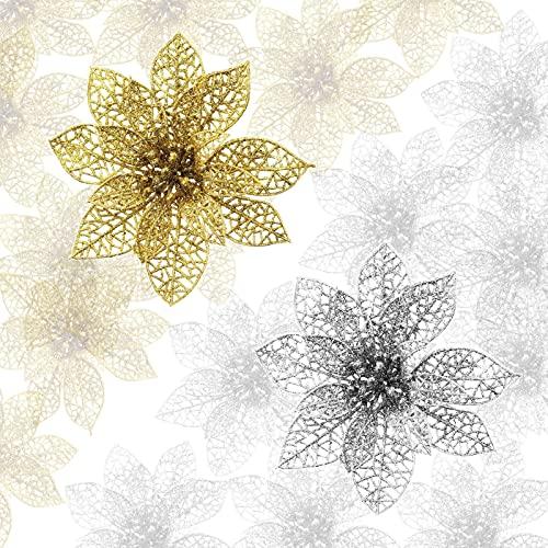 Flores Para Navidad Plateadas flores para navidad  Marca HJKyle007