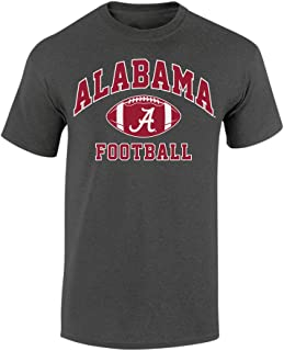 Alabama Crimson TideフットボールTシャツチャコール–M