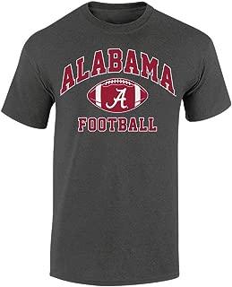 Elite Fan Shop Alabama Crimson Tide Football Tshirt Charcoal