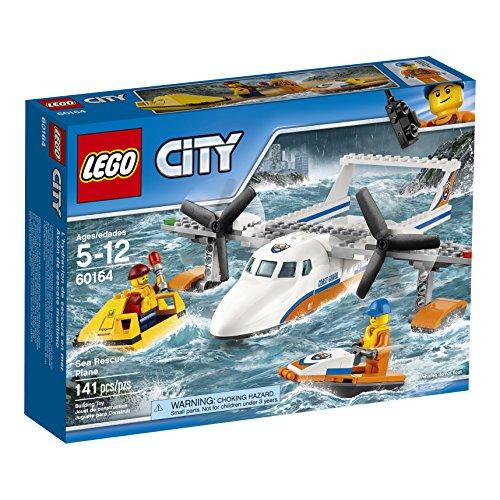 Ensemble de Construction LEGO City - Avion de Sauvetage en Mer de la Garde Côtière, 141 pièces - 0