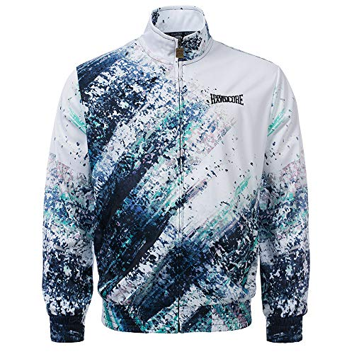 100% Hardcore Print Trainingsjacke Blow, Techno Gabber Sportjacket (2XL)