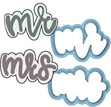 Mr & Mrs Cookie Cutter Set - American Confections - Wedding, Bachelorette Party - MADE IN THE USA