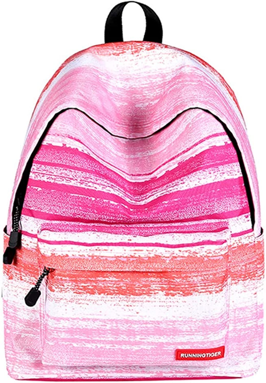 KANEED Laptop Backpack,Water Resistant Green Stripe Pattern Print Travel Backpackage School Shoulders Bag for Girls, Size  40cm x 30cm x 17cm Trekking Rucksacks (color   color5)