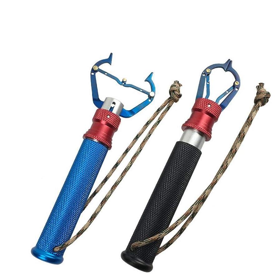 爬虫類やさしく永久YKAIEET 魚の管理多機能道路アジアの管理魚のペンチ防錆魚口クリップ釣り (Color : Blue handle)