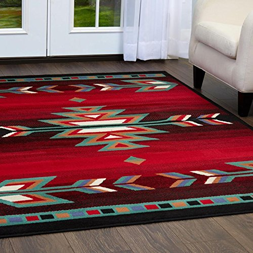 Home Dynamix Sagrada Southwest Area Rug , 7'8' x 10'7' inch , Black/Red/Ivory