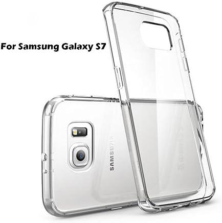 KEVAY 1.0mm Shockproof Transparent Back Cover for Samsung S7