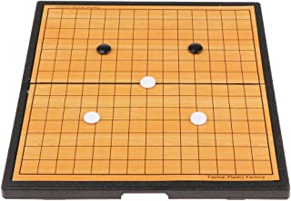 Baosity Folding Board Chinese Gobang for Traditional Games Travel, Plastic & Chess Material